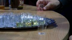Drink presentation and sampling - stock footage