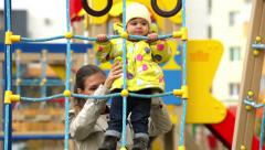 Playground activity - stock footage