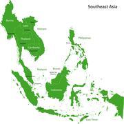 Green Southeastern Asia Stock Illustration