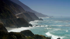 Big Sur Highway Coastline - stock footage