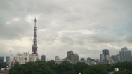 Stock Video Footage of Timelapse Tokyo Tower - Fog to Sun