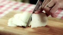0025 cutting cheese Stock Footage
