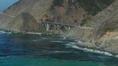 Big Creek Bridge Longshot Stock Footage