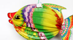 Fish lamp, a toy of Asia child Stock Footage