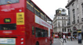 People Traffic Piccadilly Circus London Famous Public Space Double Decker Bus HD Footage