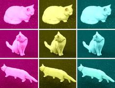 pop art cat - stock illustration