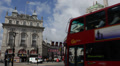 Piccadilly Circus London United Kingdom UK Double Decker Bus Passing Traffic Day Footage