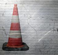traffic cone - stock illustration