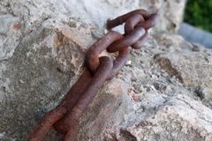 Macro chain link Stock Photos
