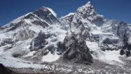 Stock Video Footage of Mount Everest and Nuptse from Kala Patthar