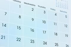 calendar - stock photo