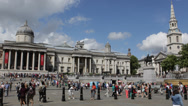 Most Popular Tourist Attraction Trafalgar Square National Gallery Stairs London Stock Footage