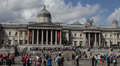 National Gallery Stairs London, Meeting Place, Community Gathering, Crowd UK HD Footage
