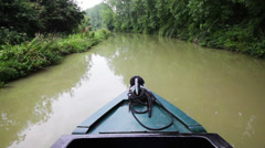 Canal Trip Time Lapse Stock Footage