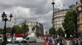 Trafalgar Square Charing Cross City Westminster London Car Taxi Cab Passing UK Footage