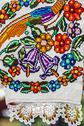 Stock Photo of materials and embroidered romanian traditional port specific 8