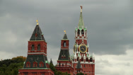 Stock Video Footage of Moscow Kremlin Towers