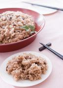 Festive red rice - stock photo
