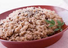 Stock Photo of Festive red rice
