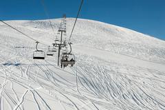 ski lift - stock photo