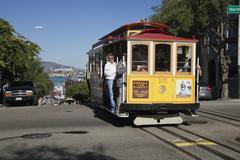San francisco - the cable car tram Stock Photos
