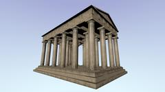 3D model of an ancient greek temple - 3D model
