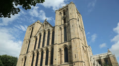 ripon cathedral on a sunny day, north yorkshire, england - stock footage