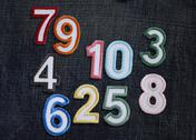 Stock Photo of Number appliques