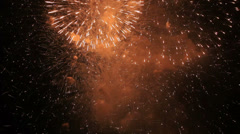 Abstract fantasy background - fireworks - stock footage