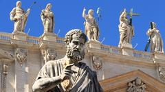 Rome & Vatican (St Peters & saints) - stock photo