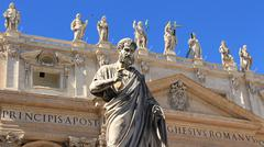 Stock Photo of Rome & Vatican (Saints at St Peters 1)