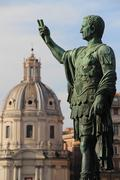 Rome & Vatican (statue of Caesar) - stock photo