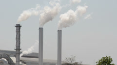 Smoke pollution from the factory Stock Footage