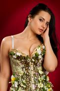 Woman in  corset Stock Photos