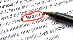 Brand concept Stock Photos