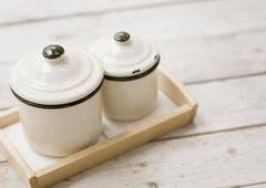 Stock Photo of Enamel containers