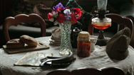 Stock Video Footage of table with edwardian era items