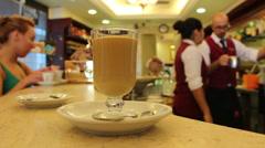 Inside Italian cafe, Rome 1 - stock footage