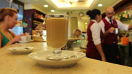 Stock Video Footage of Inside Italian cafe, Rome 1