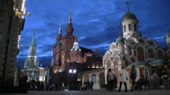Red Square Moskow Stock Footage