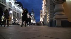 Nikolskaya Street Moscow Stock Footage