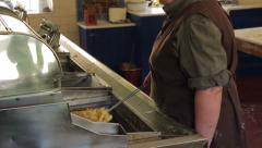 Edwardian fish and chip shop in beamish living museum, england Stock Footage
