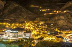 Andorra la vella village Stock Photos