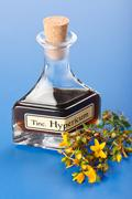 Hypericum plant and extract Stock Photos