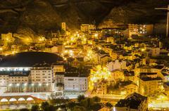 andorra la vella village - stock photo