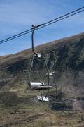 Chairlift ski slopes Stock Photos