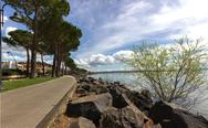Stock Photo of trevignano promenade