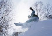 Stock Photo of Snowboarding