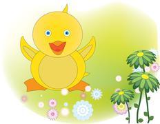 Stock Illustration of spring chicken