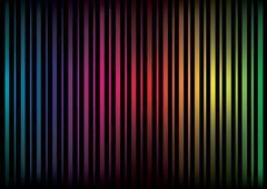 multicolored lines - stock illustration
